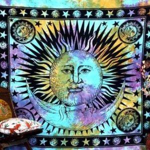Tie-Dye Sun Moon Tapestry